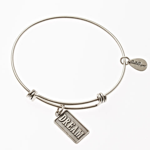 Dream Expandable Bangle Charm Bracelet in Silver - BellaRyann