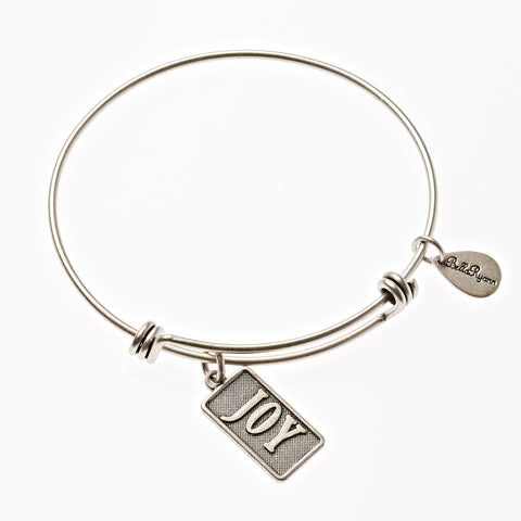 Joy Expandable Bangle Charm Bracelet in Silver - BellaRyann