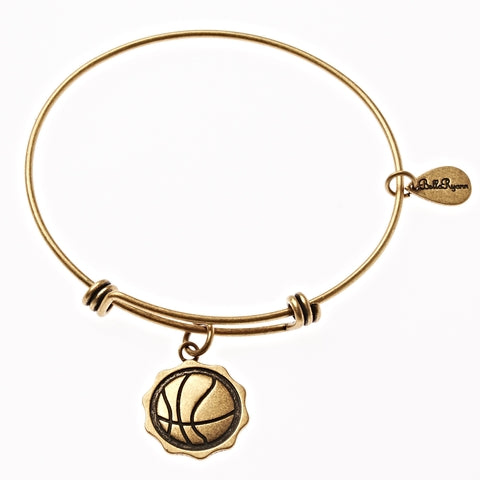 Basketball Expandable Bangle Charm Bracelet in Gold - BellaRyann
