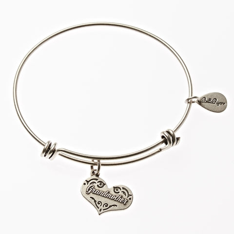 Grandmother Expandable Bangle Charm Bracelet in Silver - BellaRyann