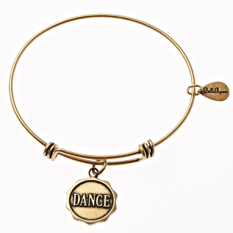 Dance Expandable Bangle Charm Bracelet in Gold - BellaRyann