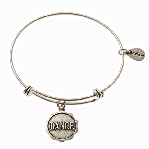 Dance Expandable Bangle Charm Bracelet in Silver - BellaRyann