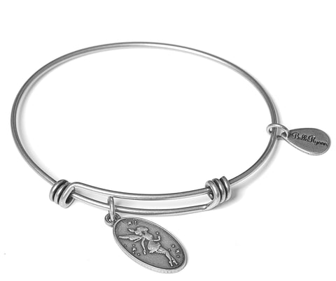 Fairy Expandable Bangle Charm Bracelet in Silver - BellaRyann