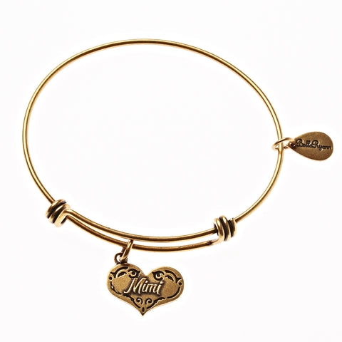 Mimi Expandable Bangle Charm Bracelet in Gold - BellaRyann