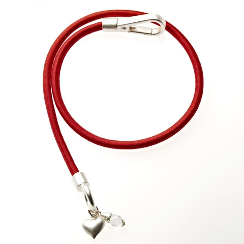 Red Bungee Wrap Bracelet in Silver - BellaRyann