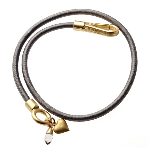 Silver Bungee Wrap Bracelet in Gold