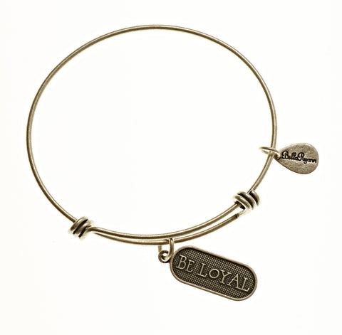 Be Loyal Expandable Bangle Charm Bracelet in Silver - BellaRyann