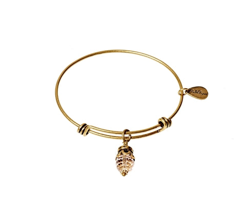 October Expandable Bangle Charm Bracelet in Gold - BellaRyann