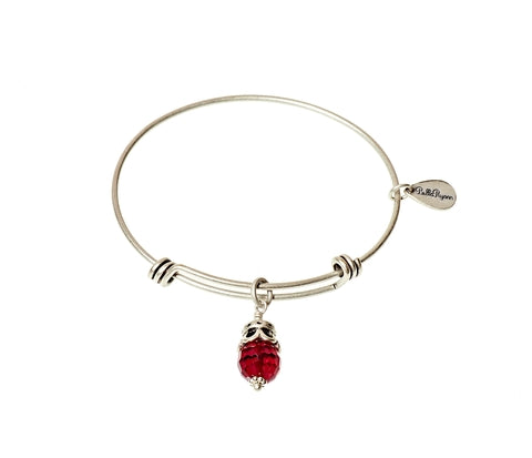 January Expandable Bangle Charm Bracelet in Silver - BellaRyann