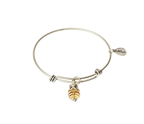 November Expandable Bangle Charm Bracelet in Silver - BellaRyann