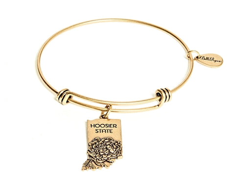 Indiana Expandable Bangle Charm Bracelet in Gold - BellaRyann