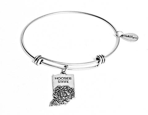 Indiana Expandable Bangle Charm Bracelet in Silver - BellaRyann