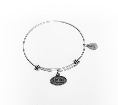 13.1 Expandable Bangle Charm Bracelet in Silver - BellaRyann