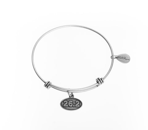 26.2 Expandable Bangle Charm Bracelet in Silver - BellaRyann