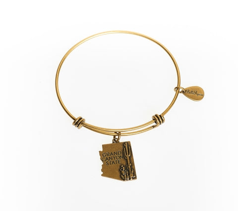 Arizona Expandable Bangle Charm Bracelet in Gold - BellaRyann
