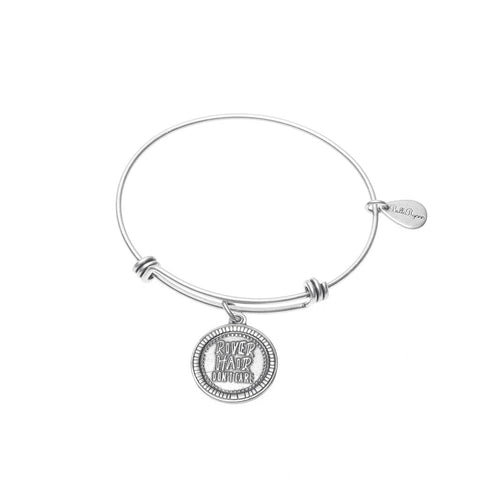 River Hair Don't Care Expandable Bangle Charm Bracelet in Silver