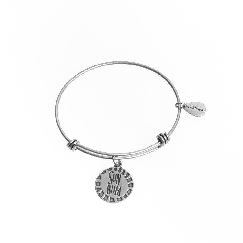 Sun Bum Expandable Bangle Charm Bracelet in Silver - BellaRyann