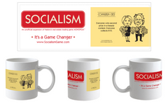 "SOCIALISM Mug – Communism Chest ""Everyone wins second prize"""