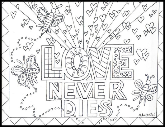 FREE Therapy Page - Love Never Dies