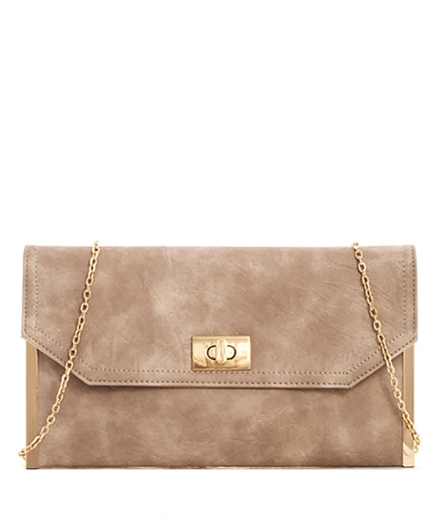 Taupe Party Clutch