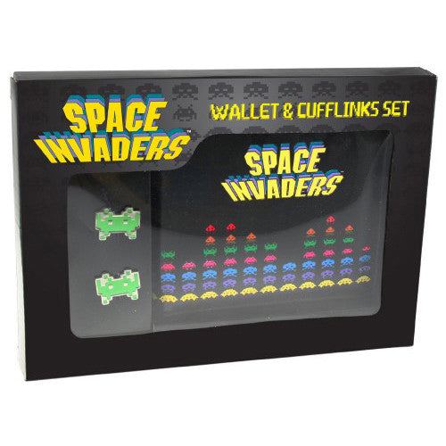 Space Invaders Cufflinks and Wallet Set Box