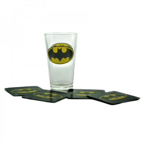 Batman Glass and Coasters Set