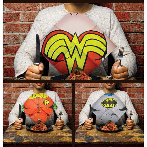 DC Comics Dress Up Napkins In Use Spread 1