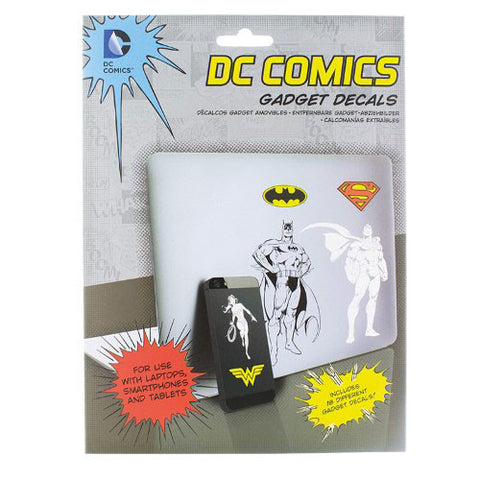 DC Comics Gadget Decals Packaging