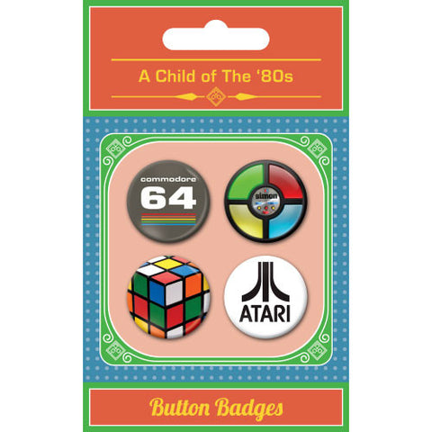 A Child Of The 1980s Button Badge Set