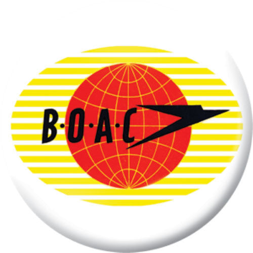 Lost Airlines Button Badge Set BOAC