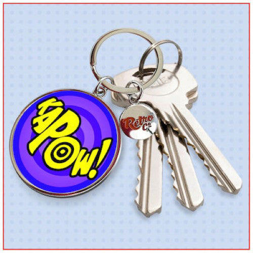 Batman Kapow Keyring In Use