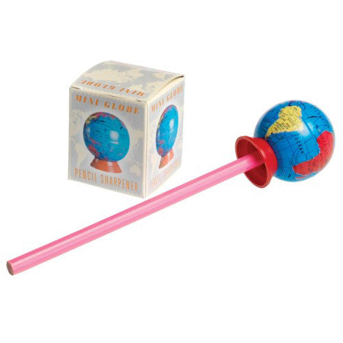 Mini Globe Pencil Sharpener In Use
