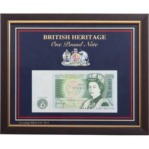 Framed One Pound Note