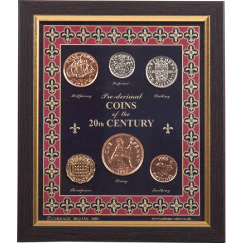 Framed Coins of the 20th Century (Pre-Decimal)
