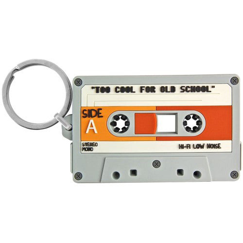 Cassette Tape Flexible Keyring