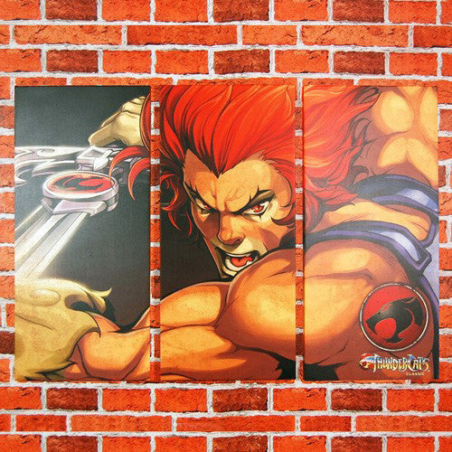 Lion O Thundercats Canvas Art Print Trptych