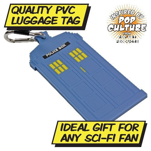 Police Box Flexible Luggage Tag Front