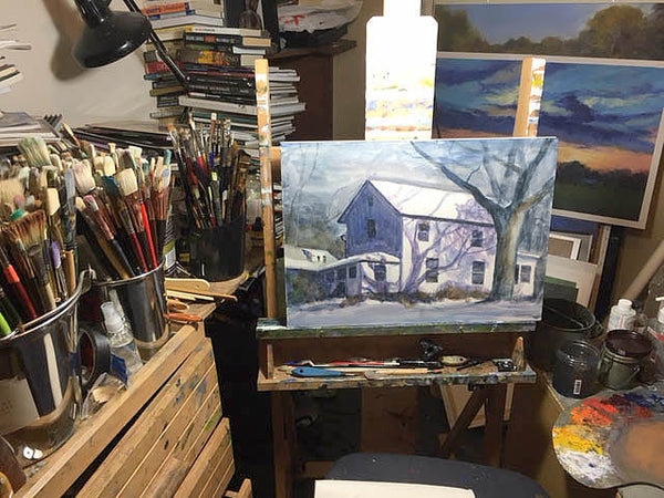 Bill Worchester's Painting Studio