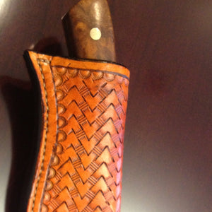 LEATHER SHEATH MAKING FOR A KNIFE