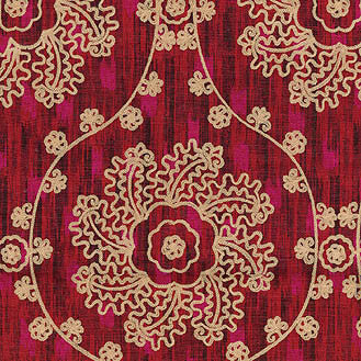 110191 Mythical Medallio Jewel Srd Pk Lifestyles Fabric