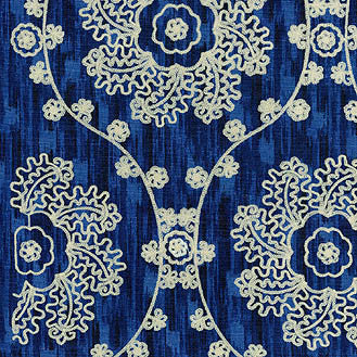 110192 Mythical Medallio Lapis Srd Pk Lifestyles Fabric
