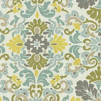 403763 Folk Damask Bliss Pk Lifestyles Fabric