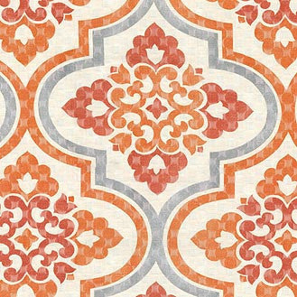 404333 Lattice Imprint Paprika Pk Lifestyles Fabric