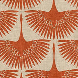 450061 Flock Circa Tigerlily Pk Lifestyles Fabric