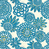 450090 Flower Pops Peacock Pk Lifestyles Fabric