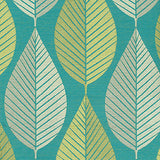 590101 Loose Leaf Turquoise Pk Lifestyles Fabric