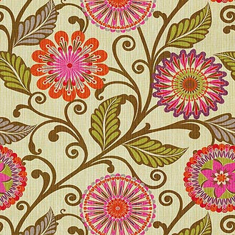 590213 Urban Blossoms Berry Srd Pk Lifestyles Fabric