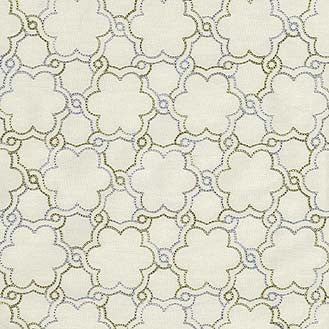 590282 Boho Lattice Emb. Platinum Pk Lifestyles Fabric