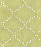 590773 Pearl Drop Emb. Celery Pk Lifestyles Fabric