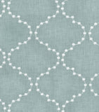 590774 Pearl Drop Emb. Mist Pk Lifestyles Fabric